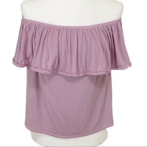 AEO Soft & Sexy Off the Shoulder Ruffle Top XS
